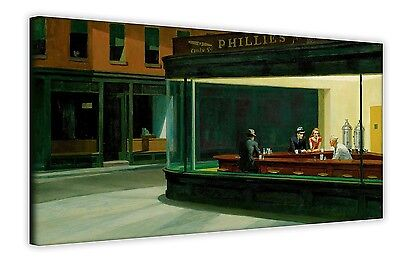 £12.99 • Buy Nighthawks By Edward Hopper Canvas Wall Art Photos Prints Pictures Posters Decor