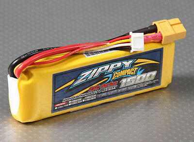AU17.44 • Buy RC ZIPPY Compact 1500mAh 3S 25C Lipo Pack