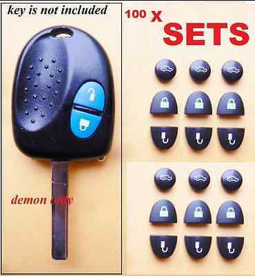 AU110 • Buy 100 X SET Black Holden Commodore Repair  Key Buttons For VS VT VX VY VZ WH WK
