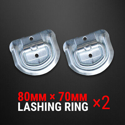 AU8.75 • Buy 2 Pcs Lashing D Ring Zinc Plated Rope Ring Tie Down Anchor Trailer UTE