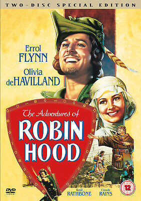 The Adventures Of Robin Hood [1938] (DVD) Errol Flynn, Olivia De Havilland • 4.99£