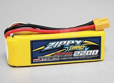 AU22.17 • Buy RC ZIPPY Compact 2200mAh 3S 25C Lipo Pack