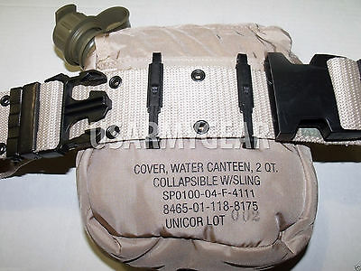 $ CDN41.01 • Buy LC Pistol Belt 2Qt Collapsible Canteen + Cover Pouch Desert Tan US Army Military