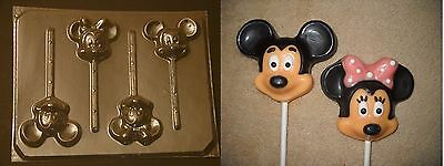 £2.83 • Buy Mickey Minnie Mouse Face Head Lollipop Chocolate Candy Soap Crayon  Mold