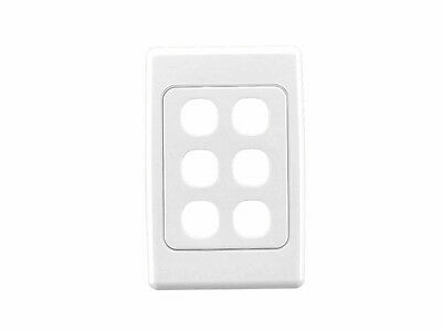 AU11.95 • Buy Clipsal Six ( 6 ) Gang Wall Plate 2000 Series Light Switch 2036VH TV Data White