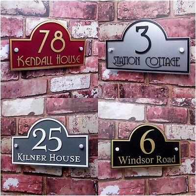 £15.99 • Buy House Number Plaques & Door Signs Address Name Plates Personalised With Fittings