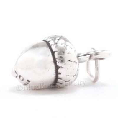 £11.49 • Buy ACORN Charm Fall Autumn Pendant Tree Nut Jewelry STERLING SILVER 925 Solid .925