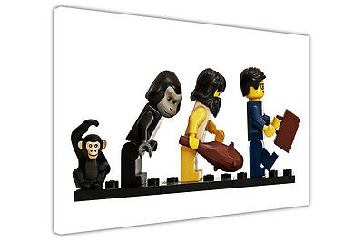 £9.99 • Buy Evolution Of Lego Kids Pictures Canvas Wall Art Prints Home Decoration Posters