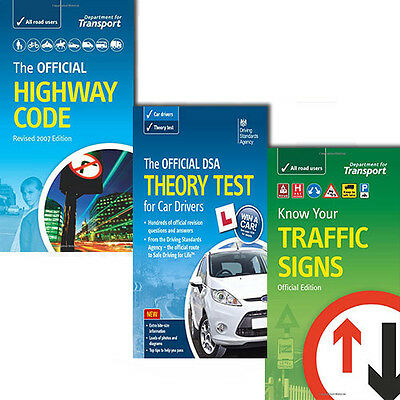 £20 • Buy The Official DSA 3 Books Set,The Official Highway Code,Know Your Traffic Signs