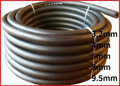 1 M Fuel Pipe Braided Hose Rubber Engine Diesel Petrol Oil,sizes 3.2,4,5,8,9.5mm • 4.05£