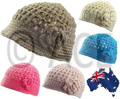 Womens Crochet Knit Ladies Vintage Great Gatsby 20s Lace Knitted Beanie Hat  • 5.51£