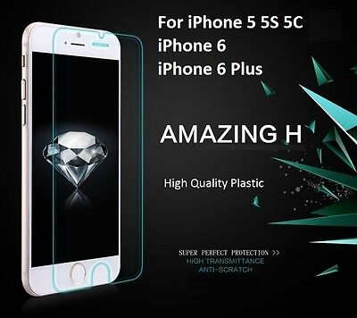 AU19.99 • Buy Plastic Ultra Clear LCD Guard Screen Protector For Apple IPhone 5 5S 6 6S 7 Plus