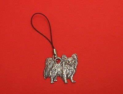 £5.99 • Buy Papillon Dog Pewter Mobile Phone Charm Dad Mother Christmas Papillon Gift NEW