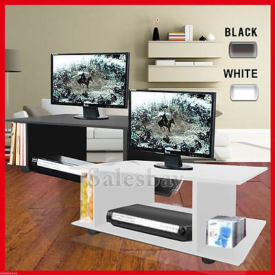 AU56.69 • Buy TV Stand MDF Cabinet Plasma Entertainment Unit Book Storage LCD LED Black Wheel