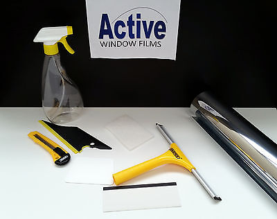 £34.99 • Buy Mirror Silver - Privacy One Way Window Tinting Pro Tint Film Full Kit With Tools
