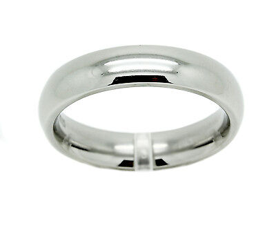 $6.99 • Buy Stainless Steel Comfort Fit Ring Mens White Wedding Plain Band Fashion 3mm-6mm