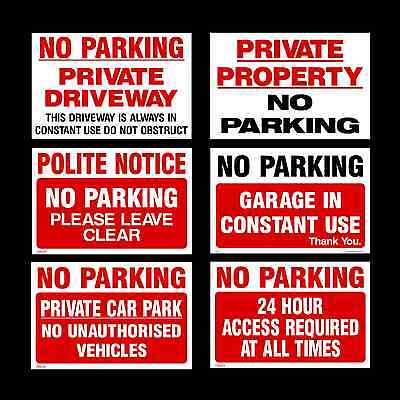 No Parking / Private Property Sign, Sticker, Metal - All Sizes - All Materials • 3.82£