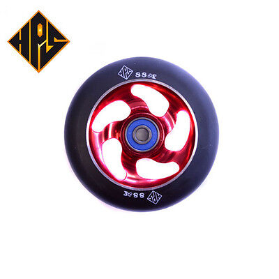 £24.87 • Buy 2X PRO STUNT SCOOTER LIGHTNING RED METAL CORE WHEELS 100mm 88a ABEC 9 BEARING