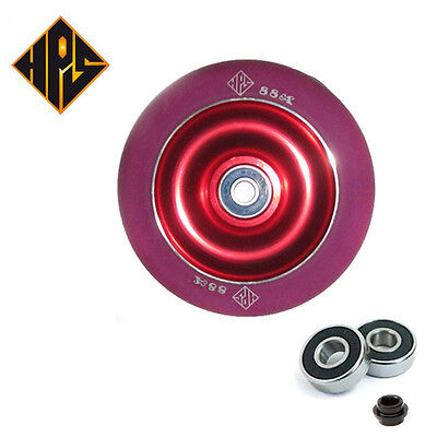 £17.99 • Buy 2X PRO STUNT SCOOTER RED SOLID METAL CORE WHEELS 110mm 88A ABEC 9 BEARINGS 11