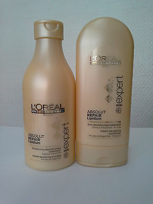 L'OREAL EXPERT ABSOLUT REPAIR Lipidium Shampoo And Conditioner Small • 38.05£