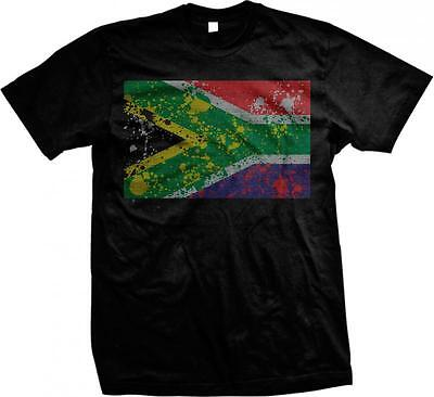 Republic Of South Africa Spatter Flag South African Pride Mens T-shirt • 7.80£