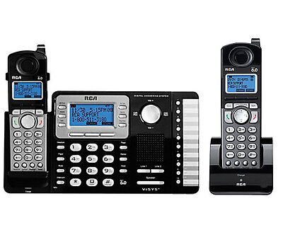 $ CDN201.01 • Buy RCA Business 2-Line 6.0 2 Cordless Phone Answering System Set 25252 + 25055RE1