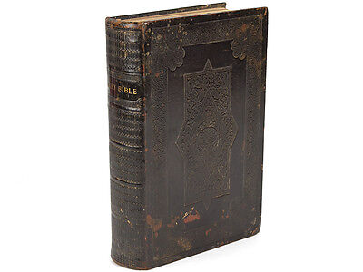 1875 Leatherbound Church Bible By Eyre & Spottiswoode • 115£