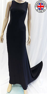 £4.99 • Buy Womens Prom Dress Sleeveless Ball Cocktail Party Formal Evening Gown Made In Uk