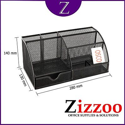£13.95 • Buy Mesh Desk Tidy Organiser By Osco The Large One Not Small Like Most