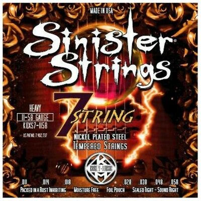 AU21.50 • Buy Kerly Music Sinister Nickel Wound Electric Guitar Strings 7-String Heavy 11 - 58