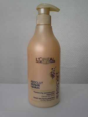 L'OREAL ABSOLUT REPAIR Lipidium Instant Resurfacing Shampoo 500ml • 30.82£