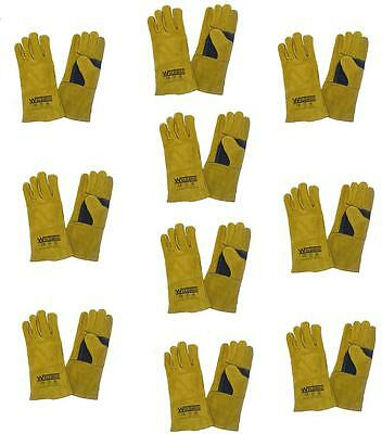 £49.50 • Buy X10 Mig / Arc Welding Gloves Welders Gauntlets Best Quality For Hand Protection