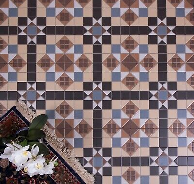 TILE DEAL / SAMPLES Belgrave Colours Victorian Mosaic Pattern Wall & Floor Tiles • 2.50£