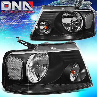 $73.66 • Buy For Ford F150/f-150 2004-2008 Euro Black Tint Housing Crystal Clear Headlights