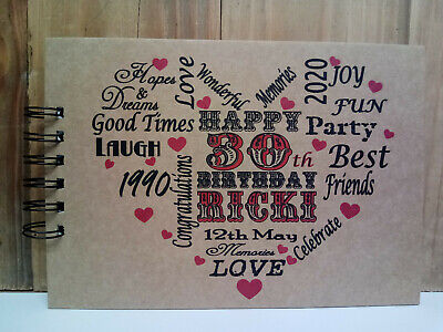 PERSONALISED BIRTHDAY 18th 21st 30th 40th 50th 60th Photo Album Guest Book  • 9.99£