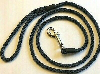 £5.50 • Buy HANDMADE DOG LEAD WITH *TRIGGER CLIP * 8 Mm X 145 Cm (strong 3 Strand Rope) NEW