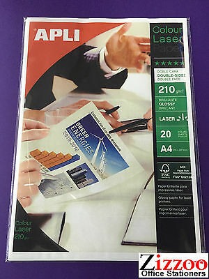 £4.99 • Buy A4 Double Sided Photo Paper For Lasers 218gsm In Pack Of 20