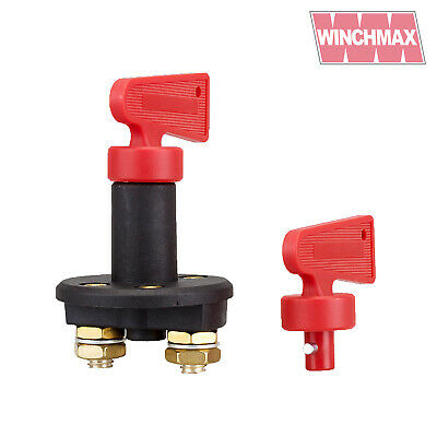 WINCHMAX BATTERY ISOLATOR SWITCH 12/24V - Key,Winch,Recovery,Boat  • 12.95£