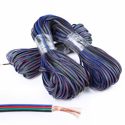 $7.49 • Buy Wholesale 4-Pin 22AWG Extension Cable Wire RGB Connector For LED 3528 5050 Strip