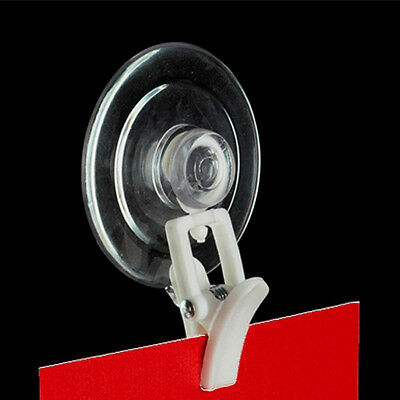 $14.95 • Buy White Swivel Organizing Clever Clip With Suction Cup - Sign Holder - 10 Pieces