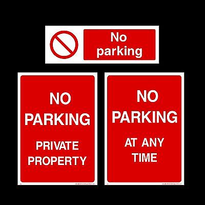 No Parking / Private Property Plastic Sign, Sticker - All Materials & Sizes • 0.99£