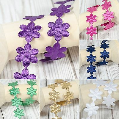 * Daisy * Flowers Trim Satin Lace Ribbon CRAFTS Scrapbook Crafts Sewing Daisies • 1.70£