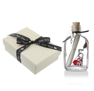 Romantic Personalised Message In A Bottle Gift For Him Her | Gift Boxed • 12.99£