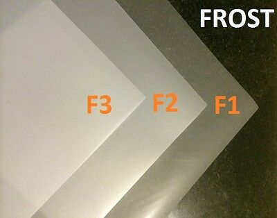 3 X FROST DIFFUSION WHITE Lighting Filter Gel Sheets 21  X 48  F1 F2 F3 GEL PACK • 19.99£