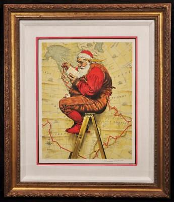 $ CDN7099.65 • Buy Vintage Norman Rockwell  Extra Good Boys & Girls Santa Claus Artist Proof Signed