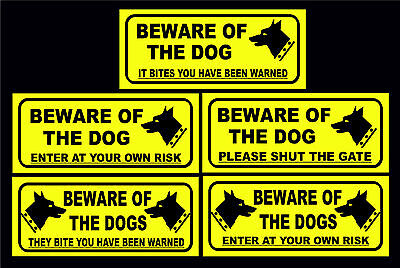 £1.29 • Buy Beware Of The Dog / Dogs Been Warned / Shut The Gate / Enter At Own Risk Signs