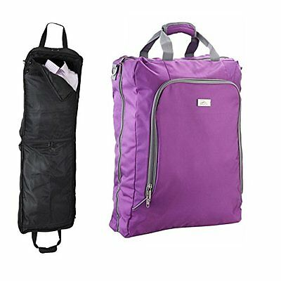 Cabin Max Business Suit Dress Carrier Travel Garment Bag Carry On Luggage Purple • 35.76£