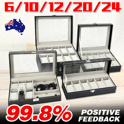 AU21.58 • Buy VIVVA 3/6/9/10/12/20/24 Watch Jewelry Storage Box Watches Sunglasses Display