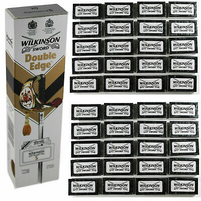 100% GENUINE Wilkinson Sword Double Edge Classic Mens Safety Razor Blades UK P&P • 3.49£