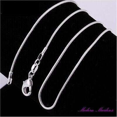 AU6.99 • Buy 925 Sterling Silver 1MM Classic Snake Necklace Chain Wholesale Price Unisex